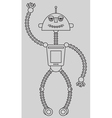 Cute robot vector image vector image