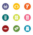 deduction icons set flat style vector image