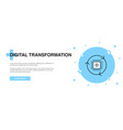 digital transformation icon banner outline vector image