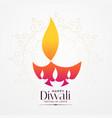 elegant diwali festival diya creative design vector image vector image