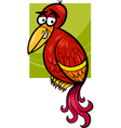 exotic bird cartoon vector image vector image