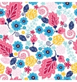 Fairytale flowers seamless pattern background vector image