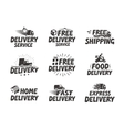 Fast delivery set icons Free shipping symbol