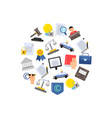 flat style copyright elements or icons vector image vector image