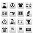 Football buttons set vector | Price: 1 Credit (USD $1)