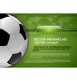 football world green layout vector image vector image