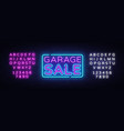 garage sale discount sale concept vector image