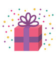 giftbox party celebration icon vector image vector image