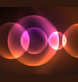 glowing shiny overlapping circles composition on vector image