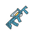 groza weapon color icon virtual video game vector image
