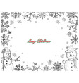 hand drawn of two cute snowman on white background vector image vector image