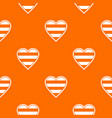 heart lgbt pattern seamless vector image vector image