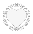 hearts love card isolated icon vector image