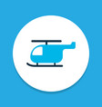 helicopter icon colored symbol premium quality vector image