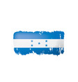 honduras flag on a white vector image vector image