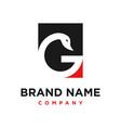 initial logo g goose vector image
