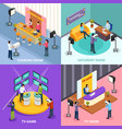 isometric television design concept vector image vector image