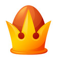 king crown icon cartoon style vector image