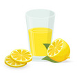 lemon icon isolated on white vector image vector image