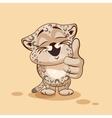Leopard cub thumb up vector image