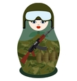 Matryoshka with a Kalashnikov assault rifle system vector image vector image