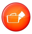 Medical bag icon flat style vector image