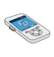 music player mp3 icon vector image vector image