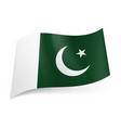 national flag of pakistan crescent moon and star vector image vector image