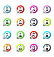 occupation icons set vector image vector image