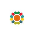 paint logo business vector image