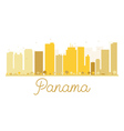 Panama City skyline golden silhouette vector image vector image
