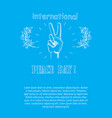 peace day poster on 21 september 2017 text vector image