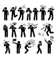 people expressions feelings emotions while vector image vector image