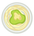 pesto with spaghetti or noodles with avocado sauce vector image vector image