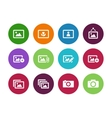 Photographs and Camera circle icons vector image