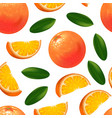 realistic detailed orange citrus fruit background vector image vector image