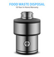 realistic food waste disposer vector image