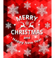 red abstract christmas card vector image