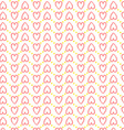 Seamless heart pattern love vector image vector image