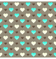 Seamless pattern with cute colorful hearts on a vector image vector image