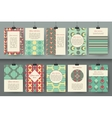 set creative vintage card templates best vector image vector image
