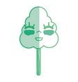 silhouette kawaii cute happy tree ecology vector image vector image