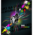 Ski abstract background vector image vector image