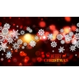 Snowflakes on abstract Christmas background vector image
