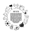 Sport frame circle white and black vector image vector image
