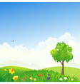 Spring scenery vector image vector image