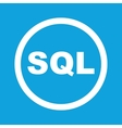 SQL sign icon vector image vector image