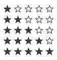 star ratting icons vector image vector image