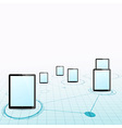 Tablet device network background vector image vector image