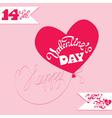 valentine day calligr ballon 380 vector image vector image